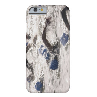 Triathletes competing in swim leg of triathlon. barely there iPhone 6 case