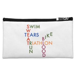 Triathlon blood sweat and tears cosmetic bags