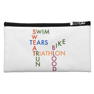Triathlon blood sweat and tears cosmetic bag
