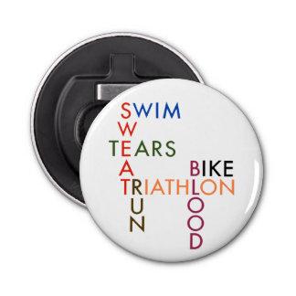 Triathlon Blood Sweat and Tears Bottle Opener