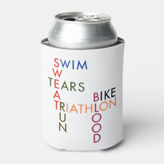 Triathlon Blood Sweat and Tears Can Cooler