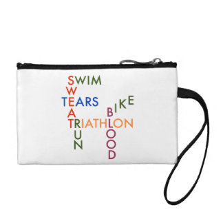 Triathlon blood sweat and tears coin purse