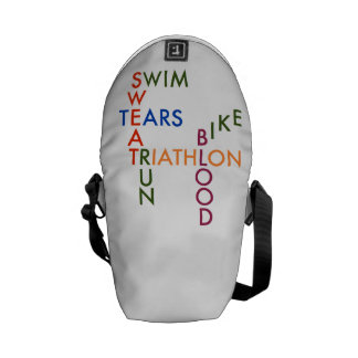 Triathlon blood sweat and tears commuter bags