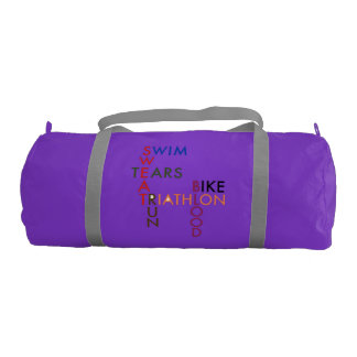 Triathlon Blood Sweat and Tears Gym Duffel Bag