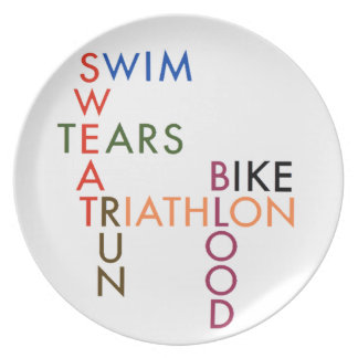 Triathlon Blood Sweat and Tears Plates
