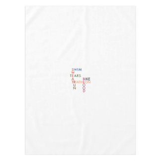 Triathlon Blood Sweat and Tears Tablecloth