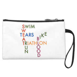 Triathlon blood sweat and tears wristlet