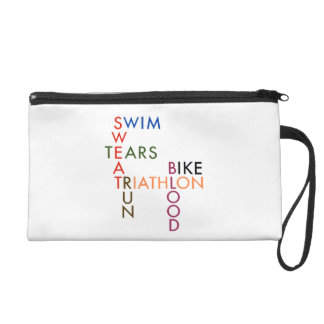 Triathlon Blood Sweat and Tears Wristlet Clutches