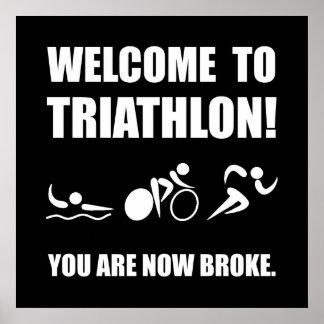 Triathlon Broke Poster