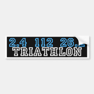 Triathlon Bumper Sticker