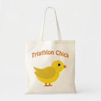 Triathlon Chick Budget Tote Bag