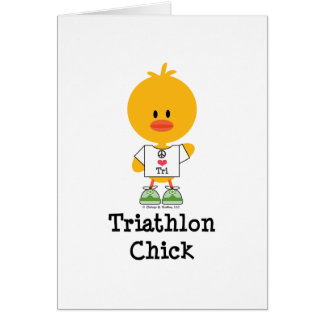 Triathlon Chick Greeting Card