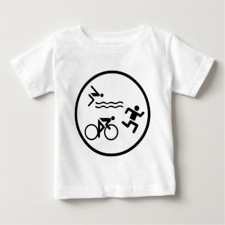 triathlon circle icon baby T-Shirt