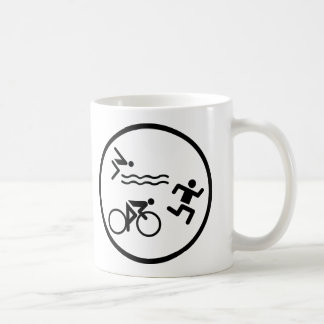triathlon circle icon basic white mug