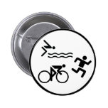 triathlon circle icon pinback buttons