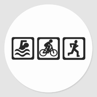 Triathlon Classic Round Sticker