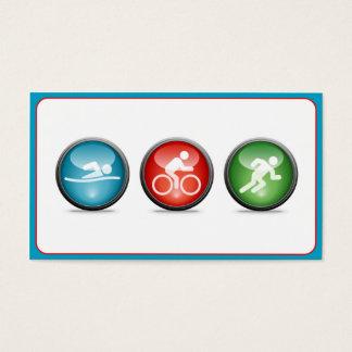 Triathlon Coach Business Card (blue)