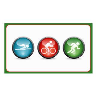 Triathlon Coach Business Card (green)
