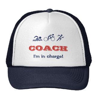 Triathlon coach fun custom name cap