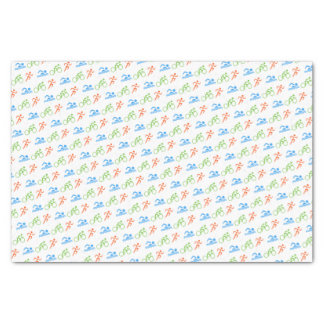 Triathlon colorful pattern sports tissue paper