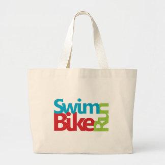 Triathlon cool and unique design jumbo tote bag