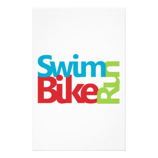 Triathlon cool and unique design stationery