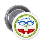 Triathlon cool artistic design 6 cm round badge
