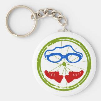 Triathlon cool artistic design key ring