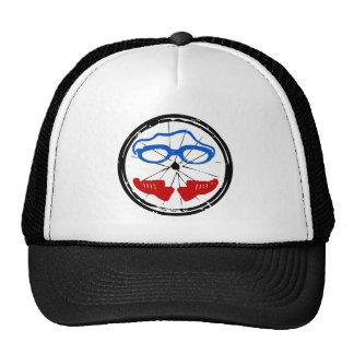Triathlon cool artistic logo mesh hat