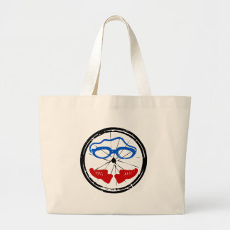 Triathlon cool artistic logo large tote bag