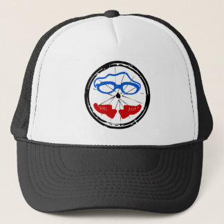 Triathlon cool artistic logo trucker hat