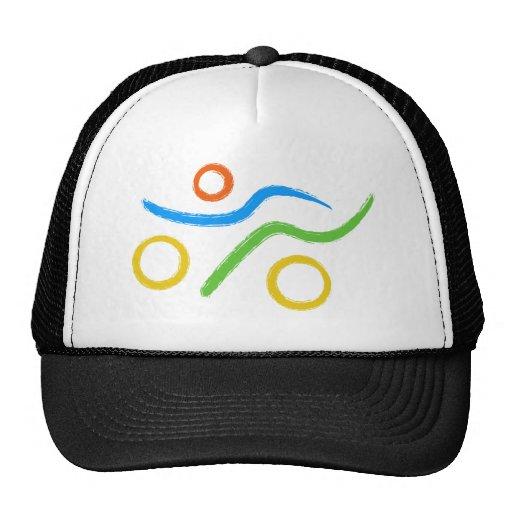 Triathlon cool logo mesh hats