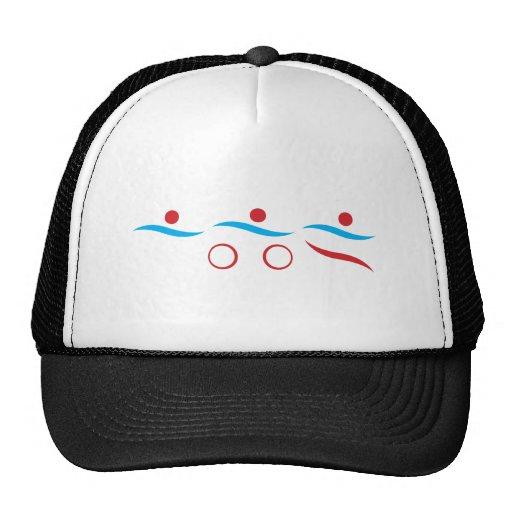Triathlon cool logo illustration trucker hat