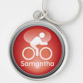 Triathlon CYCLE Customized Keychain