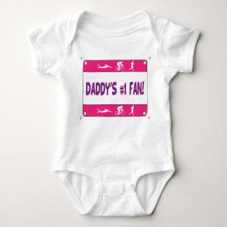 Triathlon Daddy's #1 Fan Baby Bodysuit