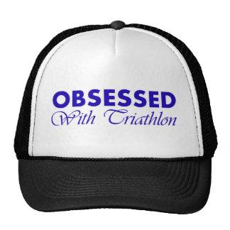 Triathlon design trucker hats