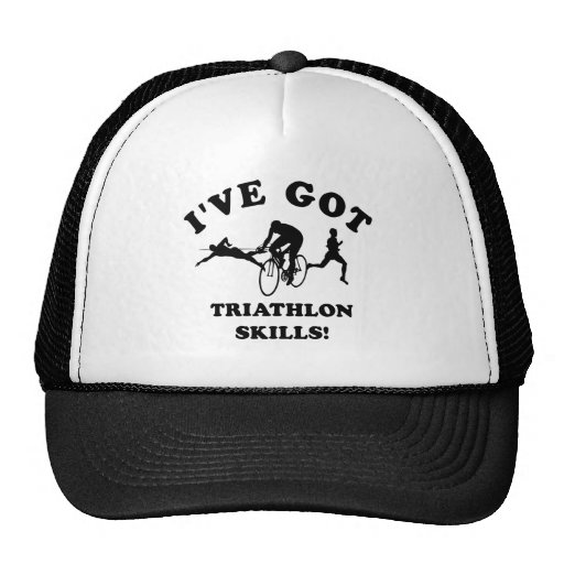 Triathlon designs and gift items hats