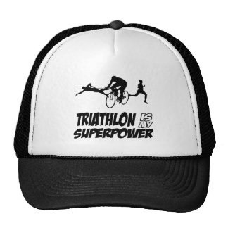 Triathlon designs trucker hats