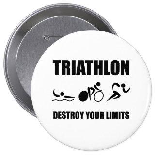 Triathlon Destroy 10 Cm Round Badge