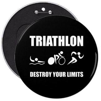 Triathlon Destroy 6 Cm Round Badge