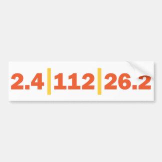 Triathlon Distance Bumper Sticker
