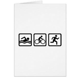 Triathlon Greeting Card