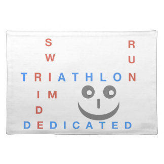 Triathlon I'm Dedicated Placemat