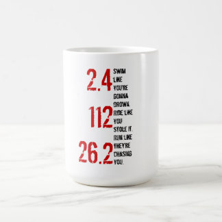 Triathlon Ironman Coffee Mug - 2.4, 112, 26.2