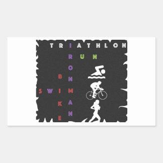 Triathlon Ironman Rectangular Sticker