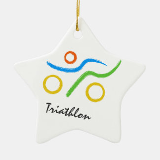 Triathlon logo christmas ornament