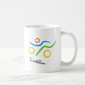 Triathlon logo coffee mug