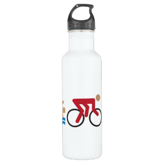 Triathlon logo icons in color 710 ml water bottle