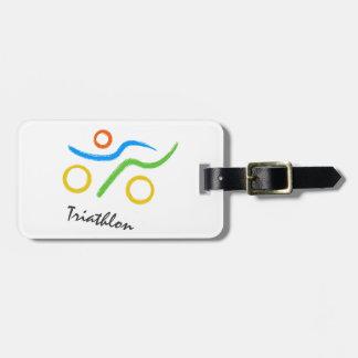 Triathlon logo luggage tag