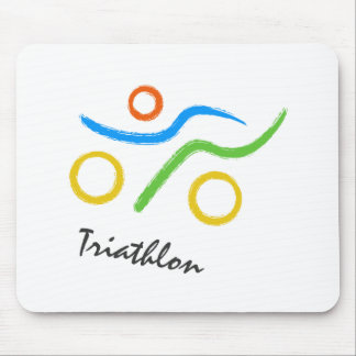 Triathlon logo mouse mat